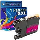 PlatinumSerie® 1 Tinten-Patrone XXL kompatibel für Brother LC223 LC225 Magenta MFC-J 4425 DW MFC-J 4620 DW MFC-J 4625 DW MFC-J 5320 DW MFC-J 5600 Series