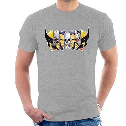 Xmen Berserker Wolverine Faces Men's T-Shirt
