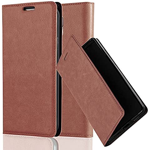 Cadorabo - Funda Book Style Cuero Sintético en Diseño Libro Samsung Galaxy S5 - Etui Case Cover Carcasa Caja Protección con Imán Invisible en