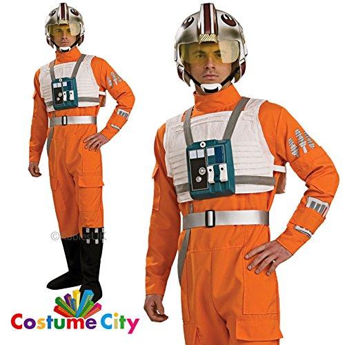 Xwing Kostüm Pilot - Star Wars-Das Erwachen der Macht - X-Wing Fighter Pilot Deluxe Kostüm Herren Gr. XL