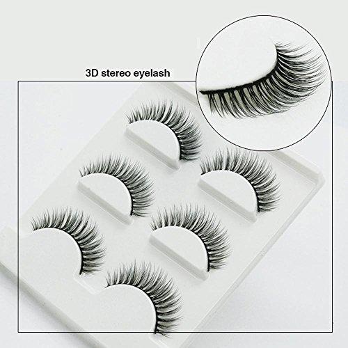 Naturel incroyable 3D stéréo multicouche faux cils pur artisanal 3D de cils (3 paires)-35
