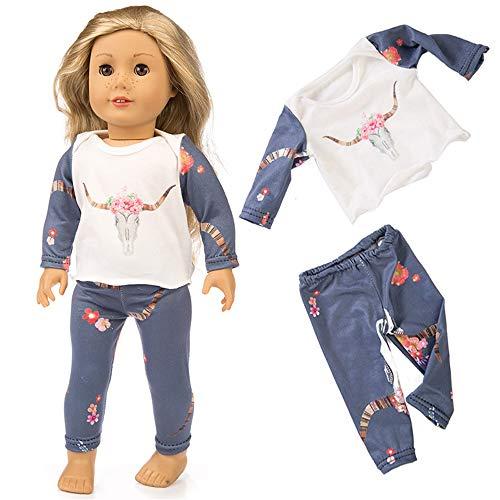 MCYs Puppe Pyjama 18 Zoll (ohne Puppen), Cute Sleepwear Pyjamas Nightgown für 18 Zoll Unsere Generation for American Girl Doll