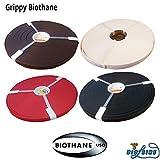 Grippy BioThane® Meterware Dunkelbraun 12 mm breit und 2,5 mm (Standard) dick Wasser- und schmutzabweisend