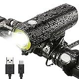 INTEY LED Lumière à Vélo Portable Multifonctionnelle USB Rechargeable Phare à Bicyclette 1000/1600 Lumens IPX6 Étanche Batterie 4500/5000 mAh
