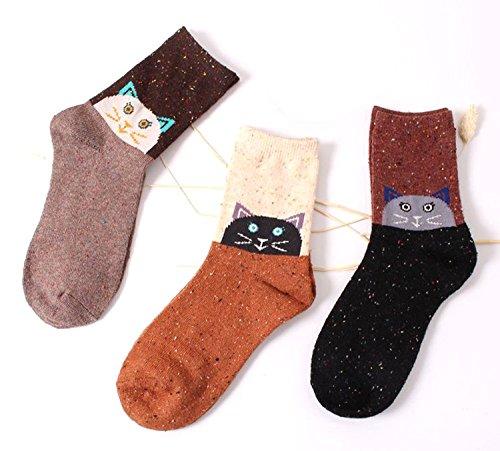 lanshulan-womens-animal-pattern-casual-cotton-socks-3-pairs-cat