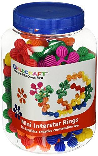 Childcraft 1435216Kleinkinder Manipulative Bibliotheken Mini Ringe, verschiedene Farben (40Stück)