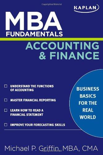 Pdf Download Mba Fundamentals Accounting And Finance Kaplan Mba