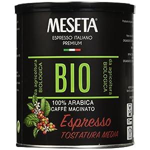 Caffè Meseta Caffè Macinato Biologico in Lattina, Tostatura Media - 250 grammi