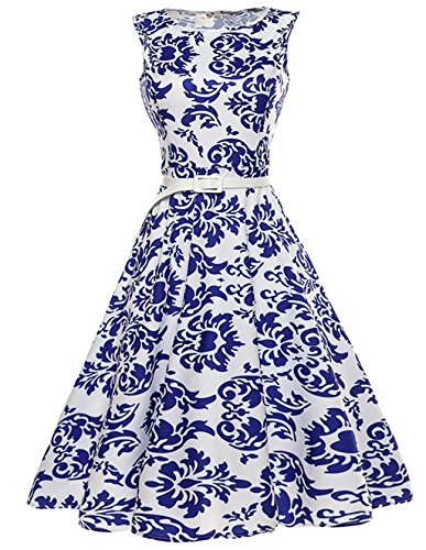 iPretty Robes Vintage 1950's Audrey Hepburn robe de soirée cocktail, bal style années 50 Rockabilly Swing Robe Femmes STYLE-7