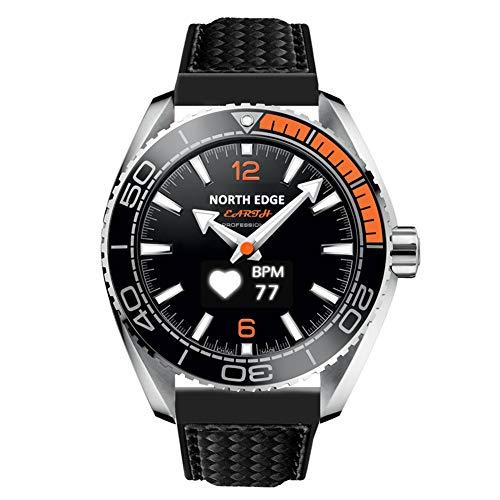 North Edge Herren Military Digital Sport Armbanduhr LED Hintergrundbeleuchtung Display Uhren wasserdicht Casual H?henmesser Kompass Stoppuhr Alarm Multifunktions Armbanduhr (Schwarz)