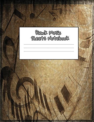 Blank Sheets Music Notebook