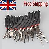 Generic T Flat Needlery Maki strumenti per set pinze per creare gioielli strumento mano piegata piatto ago set pinze strumento ha