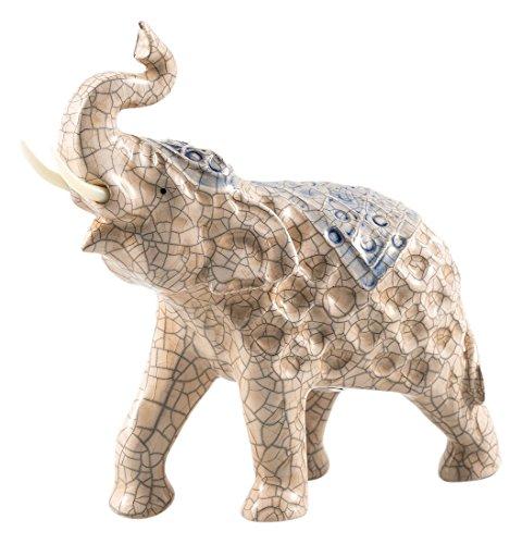 Pajoma 40934Decoración Elefante Raju, cerámica, Altura 19cm