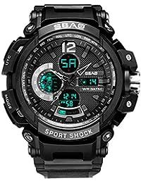 OPAKY Nuevo Reloj Deportivo Multifuncional con Calendario Deportivo al Aire Libre para Hombres Versatilidad 30 Metros
