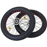 26 Zoll Coyote Fatbike Laufradsatz Vorderrad + Hinterrad komplett mit Reifen