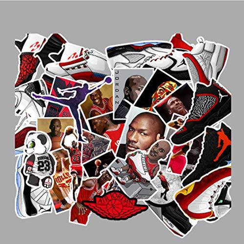 YLGG Zufällige Cartoon Jordan Aufkleber Für Jungen Gepäck Auto Koffer Laptop Telefon Skateboard Moto Aufkleber 50 Stücke - Jordans Telefon Fall
