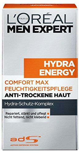 L\'Oreal Men Expert Hydra Energy Comfort Max Feuchtigkeitspflege, Anti-Trockene Haut, 50 ml