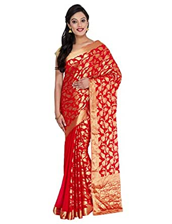 Classicate From The House Of The Chennai Silks Silk Saree (Ccsw-Fs-01_Chilli Red)