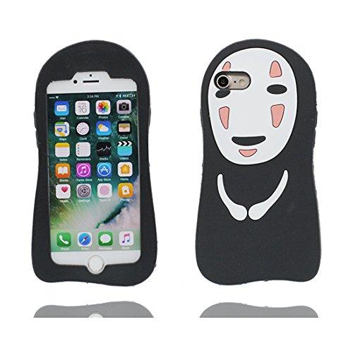 "Hülle iPhone 6 Cover, 3D Cartoon Japan Cartoon Verstecktes Gesicht, Case iPhone 6s Handyhülle, TPU Flexible Durable Shock Dust Resistant, Shell iPhone 6 Cover 4.7"" Schwarz"