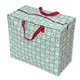 from dotcomgiftshop The Original Jumbo StorageBag - Blue Vintage Doily