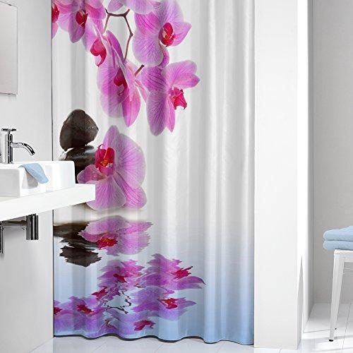 uschvorhang-Spa, 180 x 200 cm (Blume Vorhang Ringe)