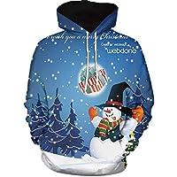 HWTOP Kapuzenpullover Paare Sweatshirt Hoodies 3D Weihnachten Print mit Kapuzen Sweatjacke Top Bluse Shirts Trainingsanzüge Sport Fitness Basic Pullover Langarmshirt Premium Casual Männer Sweater