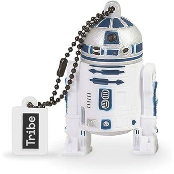 Tribe Disney Star Wars R2D2 - Memoria USB 2.0 de 8 GB Pendrive Flash Drive de Goma con Llavero, Color Blanco
