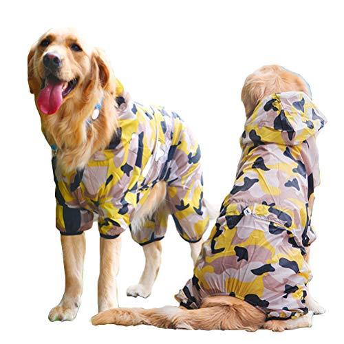 NACOCO Hund Sonnenschutz Kleidung Haustier Vier Beine Lycras Camouflage Kühlkostüm für große Hunde Sommer Frühling Herbst, 7XL -