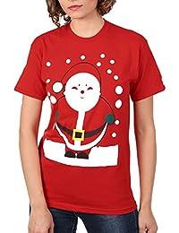 Pilot Women's Santa Christmas T-Shirt in Red