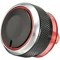 Boton de control de calefactor - SODIAL(R) Boton de aluminio de perilla de tablero de control de aire de calentador