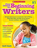 First Lessons for Beginning Writers