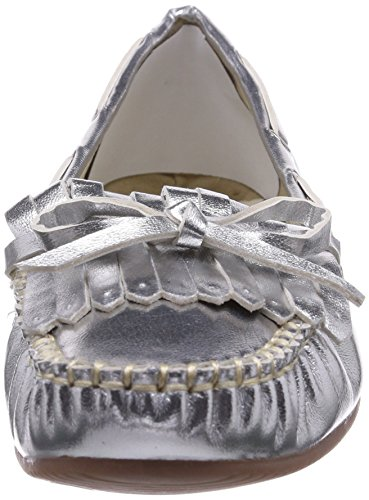 Andrea Conti 0875304096, Mocassins femme Argent - Silber (silber 096)