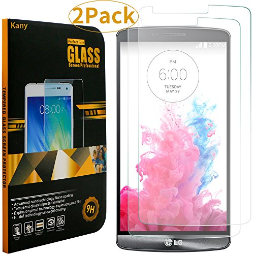 Screen Protector for LG G3,Kany 2 pack 0.25mm Ultra-thin Tempered Glass Crystal Clear LCD Screen Protector for LG with 9H Hardness(LG G3) Test