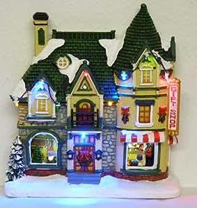 Weihnachtshaus beleuchtet 3D Modell Geschenke-Laden LED Licht Weihnachtsdekoration