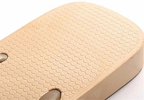 FLYRCX Prova di slittamento semplice flip flop ladies estate a fondo piatto di colore solido casual pantofole b