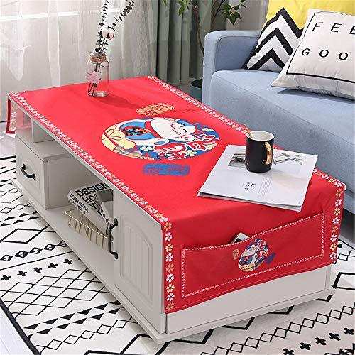 qwdf Nordic Baumwolle und Leinen Geschirrtuch Wohnzimmer rechteckige Universal Tuch Handtuch Tischtuch Couchtisch Matte Kühlschrank Staubschutz
