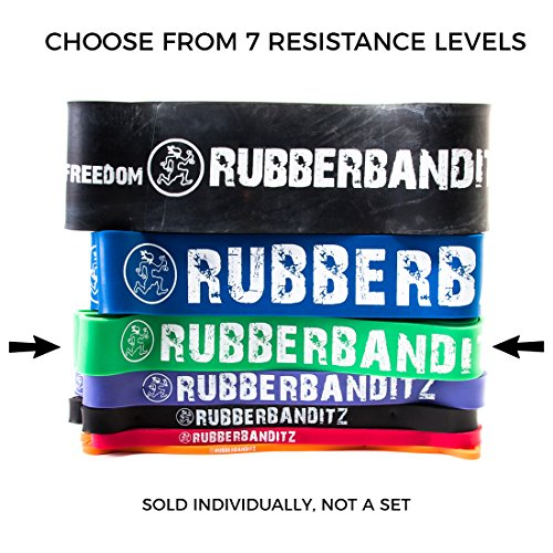 Rubberbanditz Pull Up/CrossFit Band - Power - 50-120 lbs. (23-54 kg) - Resistance with Pullup PDF (Assist Stand)