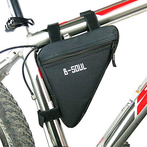 superwinger Fahrrad Bike Bag Top Tube Triangle Bag Front Sattel Rahmen Tasche Outdoor Schwarz