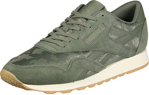 Reebok Classic Nylon SG, Sneakers Basses Homme Vert (Hunter Green/chalk)