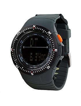 Sportuhr SKMEI Digital Wasserresistent Alarm Schrittzähler Stoppuhr Herren Armbanduhren (grau)
