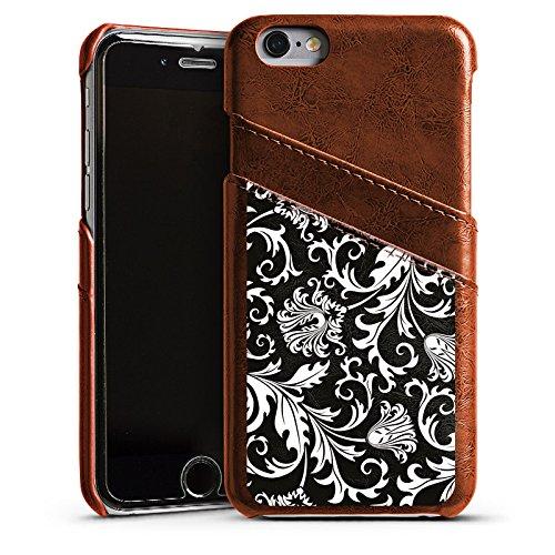 Apple iPhone 5 Housse Étui Silicone Coque Protection Ornements Mandala Motif Étui en cuir marron