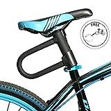 WESTGIRL Fahrrad u-lock 3.94-foot Flex-Kabel U-Diebstahlschutz Schloss für MTB, BMX Fahrrad, Rennrad, E-Bike, Motorrad, Herren, Schwarz