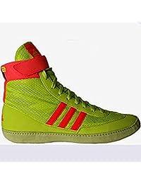 Combat Speed 4David Taylor Edición limitada de lucha libre zapatos, 10.5 US, Solar Yellow/Solar Red/Gum