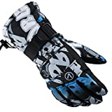 MSKAY SKI GLOVES Gloves for Men Women Ski Snowboard Gloves Snowboard Winter Adjustable for The Outdoor Sports, 3, XL