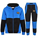 A2Z 4 Kids® Kinder Trainingsanzug Jungen Mädchen Designer A2Z PROJECT Abzeichen - T.S A2Z Project Black Blue 5-6