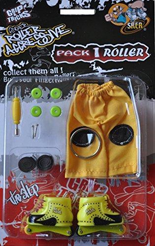 Aggressive Skate-roller (Finger Skate - Roller Aggressive Pack1 - Grip & Tricks - Dimensions: 22 X 13,5 X 2 Cm)