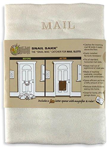 SNAIL SAKK: Der Schneckenpost Auffänger für Briefschlitze - CREME (warmes weiß)