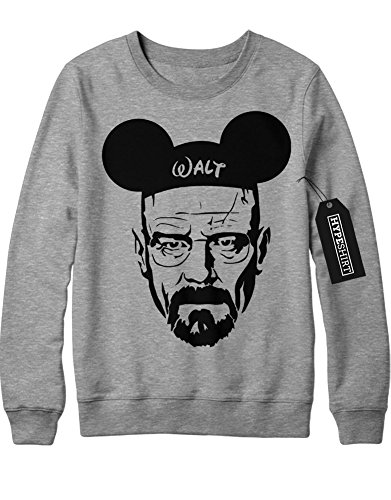 Sweatshirt Walter Mickey Mouse Breaking Bad C112241 Grau (Jesse Und Kostüm Walt)