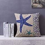Demiawaking Fodera per Cuscino Decorativo Oceano Blu in Cotone e Lino Cuscino Copertura del Cuscino Decorazioni per la Casa Divano (04)