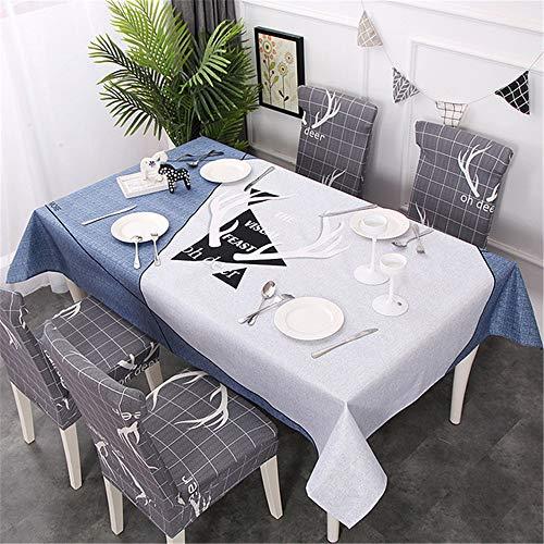 qwdf Neue wasserdichte Nordic kleinen frischen Stoff Heimtextilien Tischdecke Tischdecke Tisch und Stuhl Set elastische All-Inclusive-Stuhlabdeckung